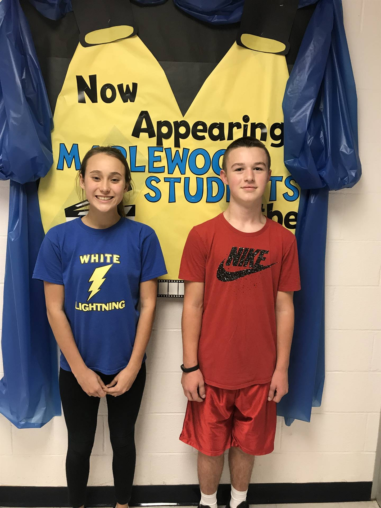 Ocotber Students of the Month- Jr. High