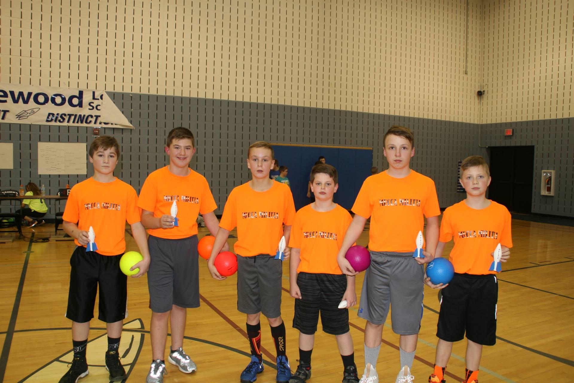 Dodgeball Tournament 5/6 1st Place