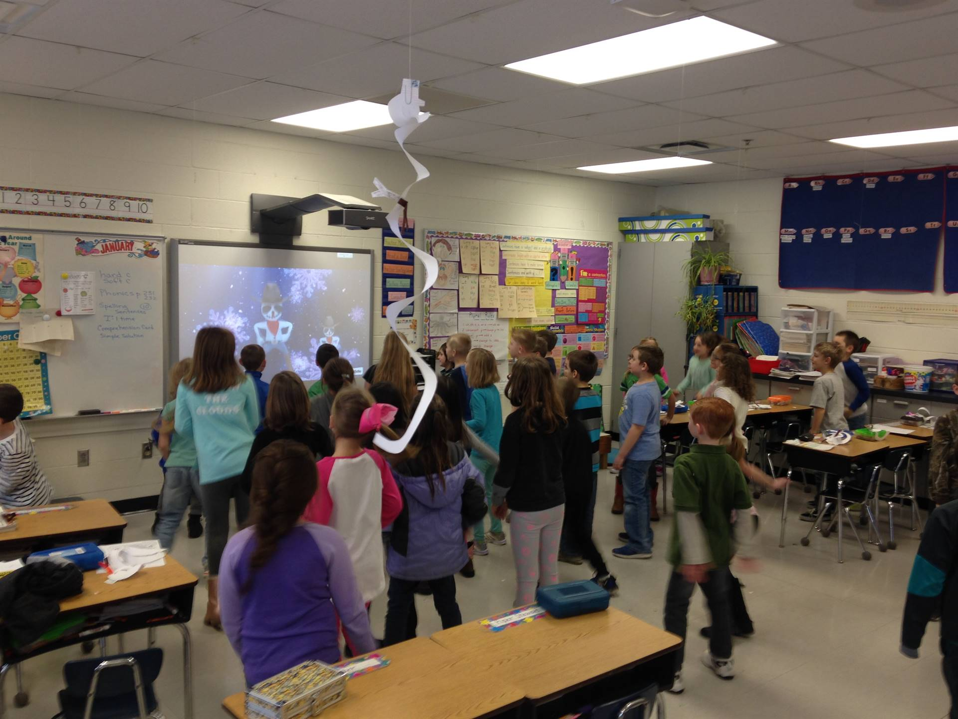 2nd Grade dancing with GoNoodle!