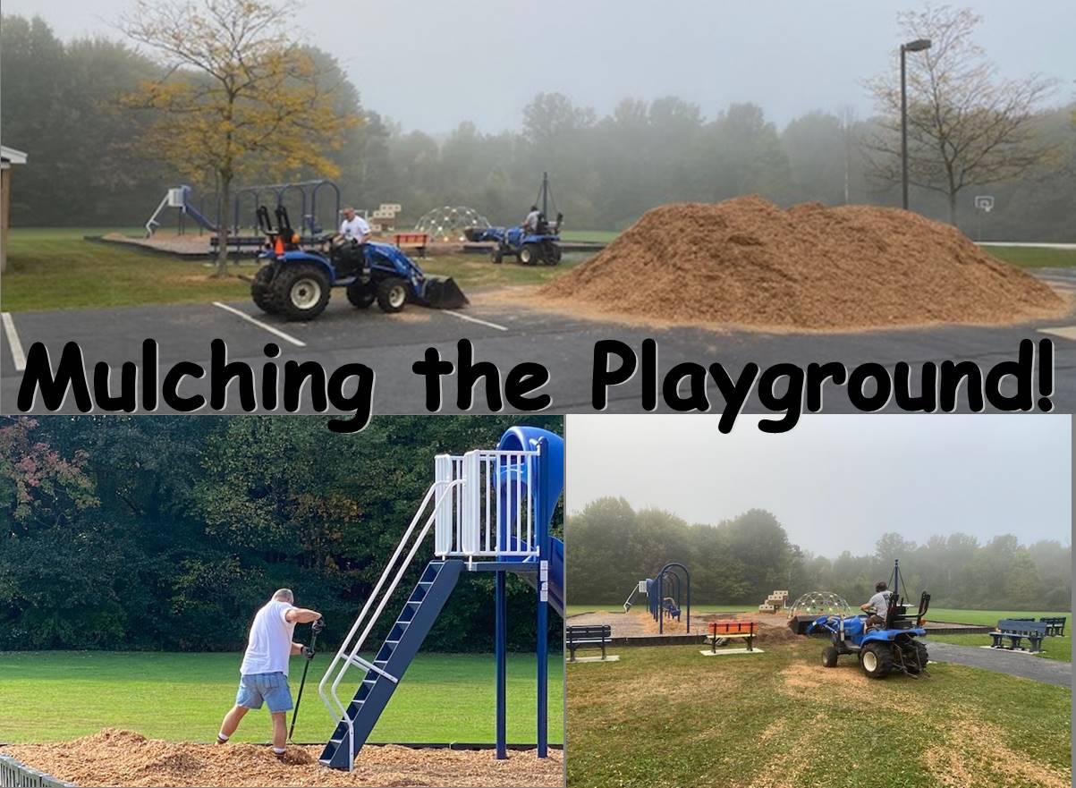 mulching the playground
